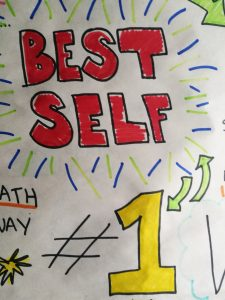 """Drawing of a flip chart page with the text """"Best Self"""""""